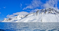 Snowcapped Mountains, Arctic, Svalbard, Norway