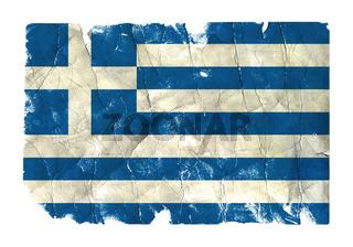 Grungy Flag - Greece