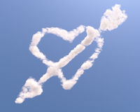 Heart shaped cloud with arrow