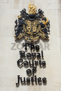 Sign of the royal courts of justice london