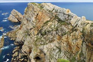 Spanien, Asturien: Felsen am Cabo Penas