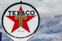 SELIGMAN, ARIZONA, USA - JULY 31 : Old Texaco sign in Seligman, Arizona, USA on July 31, 2011