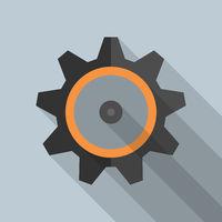 gear wheel or cogwheel symbol