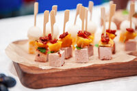 Tasty appetizers on the table