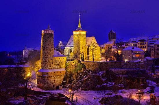 Bautzen Nacht Winter - Bautzen night winter 01