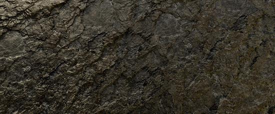 shimmering wet rock