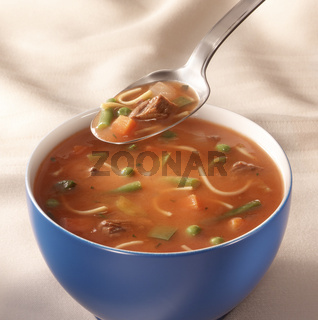 bowl of tomato vegetable soup