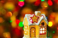 Lighting house and christmas tree