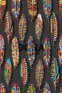 Color feathers pattern