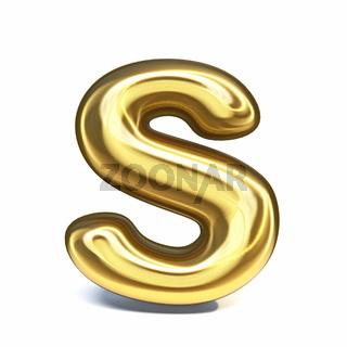Golden font Letter S 3D