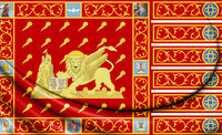 3D Flag of of Venice, Italy. 3D Illustration.