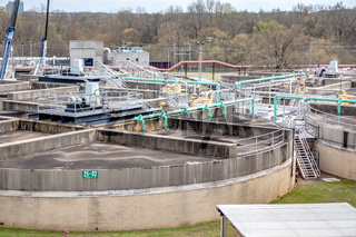 typical day at a large wastewater treatment plan facility