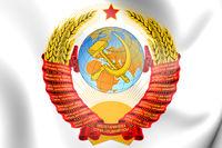 3D Soviet Union coat of arms. 3D Illustration.