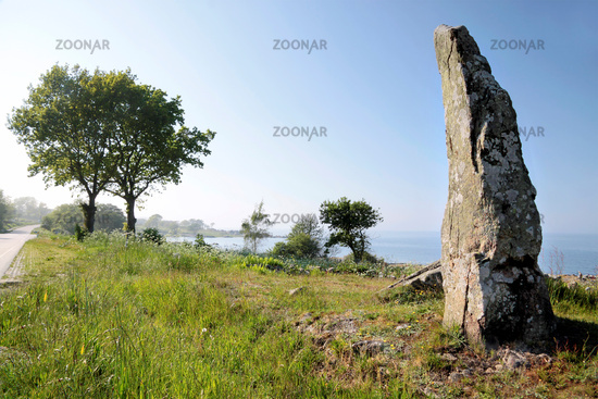 Large monolith on the coast of Bornholm