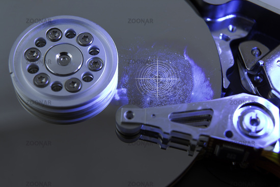 Hard drive with Fingerprint