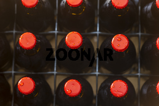 Bierflaschen mit hausgemachtem Bier