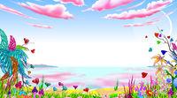 Fairy landscape background