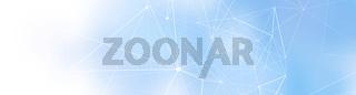 netzwerk linien punkte verlauf formen banner