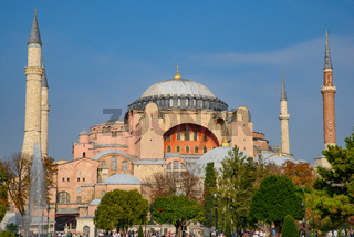 Hagia Sophia, former Orthodox cathedral and Ottoman imperial mosque, in Istanbul, Turkey