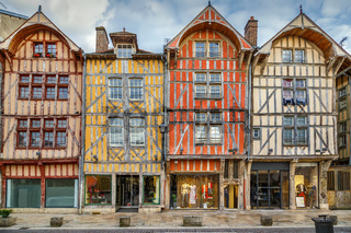 Strret in Troyes downtown, France