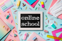 Online school, e-learning concept