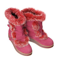 Women winter boots, isolated