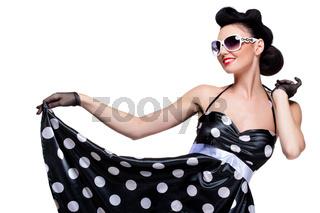 young beautiful caucasian woman posing