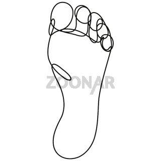 Sole of Foot Continuous Line Drawing