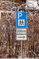Parking sign for hikers