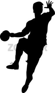 Handball Stürmer - Sprungwurf