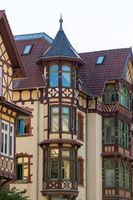 Facades of historic buildings in the city Meiningen