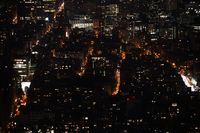 New York night view visible from the Empire State Building