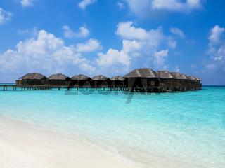 Maldives, Villa on piles on water