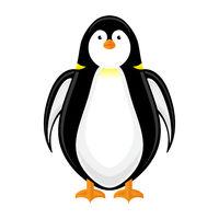 Cute Penguin Icon Isolated on White Background