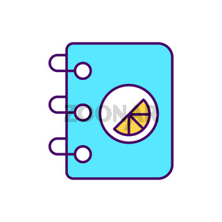 Branded notepad RGB color icon