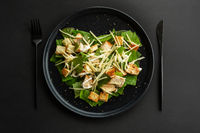 Caesar salad love heart