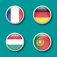 bouton drapeau groupe F euro 2021