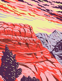 The Vermilion Cliffs National Monument in Coconino County Arizona includes the Paria Plateau Vermilion Cliffs Coyote Buttes and Paria Canyon WPA Poster Art