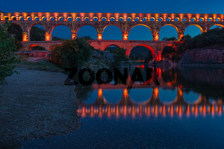 The Pont du Gard is a Roman aqueduct in the south of France