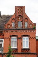 kunstvolle Backstein-Fassade
