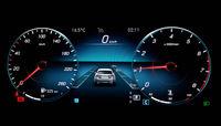 Dashboard Display Of Mersedes Benz E class