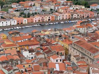 Blick auf die Altstadt von Bosa