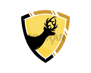 Deer inside the shield protection