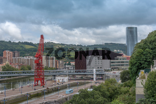 Exterior view of the Maritime Museum in Bilbao, Basque Country, Spain