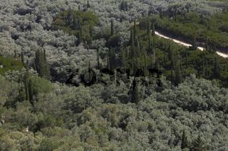 Angelokastro or 'Castle of Angels' Nähe Paleokastritsa
