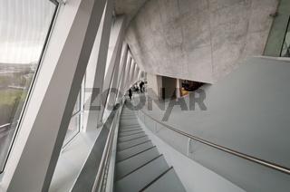 Treppe im Mercedes Benz Museum Stuttgart