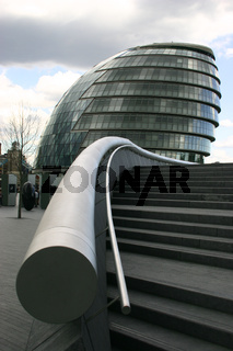 Stairs leading to the London Assembly building