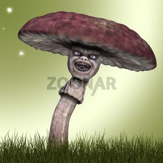 Lustiger Pilz