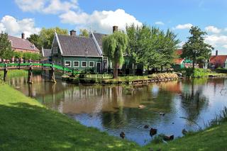 Dutch village. Zaanse Schans, Netherlands.