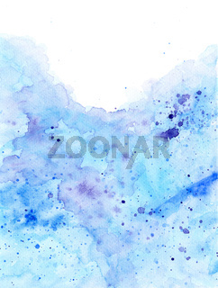 Abstract Watercolor Background With Light Blue